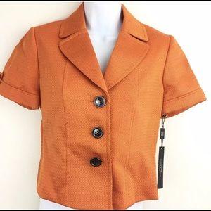 Tahari ASL Short Career Tweed Suit Jacket